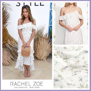 Rachel Zoe Jillian Floral One Shoulder Midi Dress